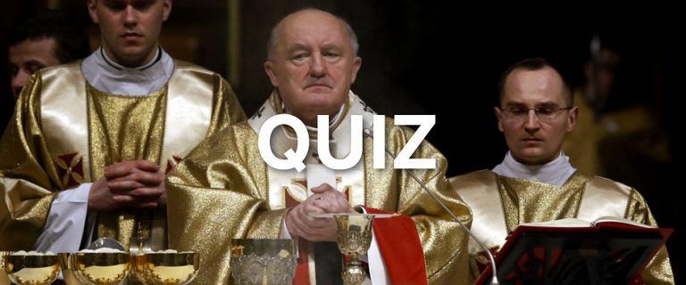 Jeśli nie chodzisz do kościoła, nie wróżymy ci powodzenia w tym quizie