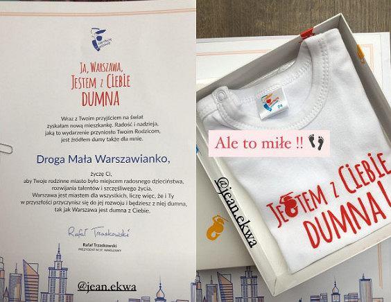Gratulacje i prezent od Rafała Trzaskowskiego