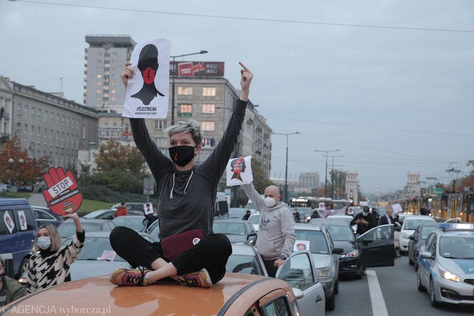 26.10.2020 r. Strajk kobiet - protest Blokada Warszawy