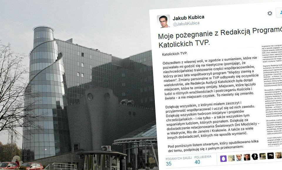 Jakub Kubica odszedł z TVP