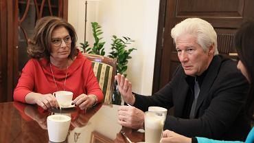 Richard Gere podczas wizyty w Sejmie rozmawiał z wicemarszałek Małgorzatą Kidawą-Błońską