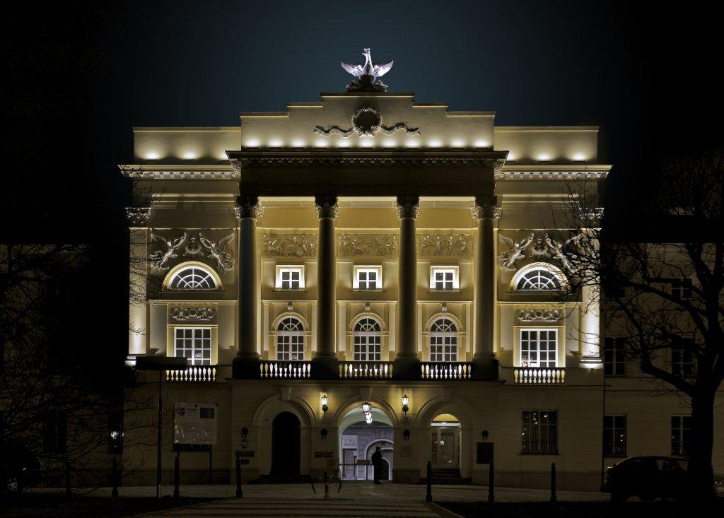 Pałac Mostowskich w Warszawie. Siedziba Komendy Stołecznej Policji (fot. Solidphotouploader / Wikimedia.org / bit.ly/1Pm1DSD)
