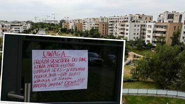 Ogłoszenie sąsiedzkie na Mokotowie
