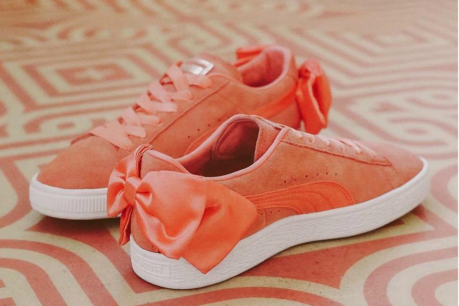 buty puma z kokardą