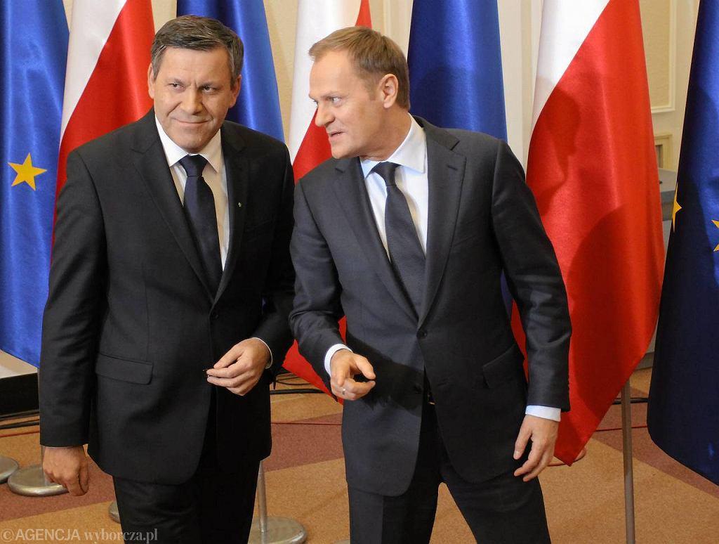 Janusz Piechociński i Donald Tusk
