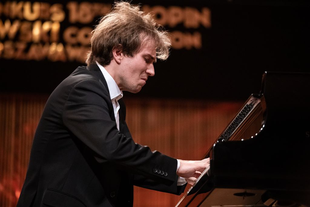 Andrzej Wierciński podczas 18. Konkursu Chopinowskiego.