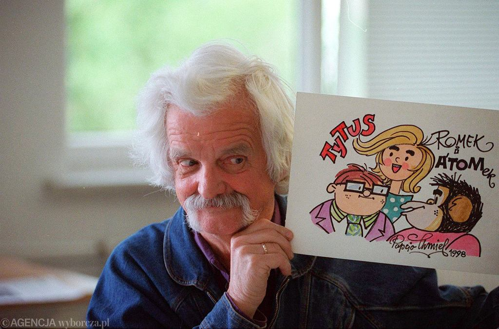 Papcio Chmiel - Henryk Chmielewski - rysownik,autor komiksu 'Tytus, Romek i A'Tomek'