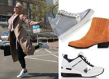 Wygodne buty na wiosnę: Kożuchowska stawia na białe sneakersy! U nas znajdziesz podobne. Wybieramy też modne botki