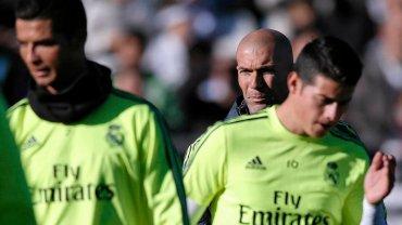 Cristiano Ronaldo, Zinedine Zidane i James Rodriguez