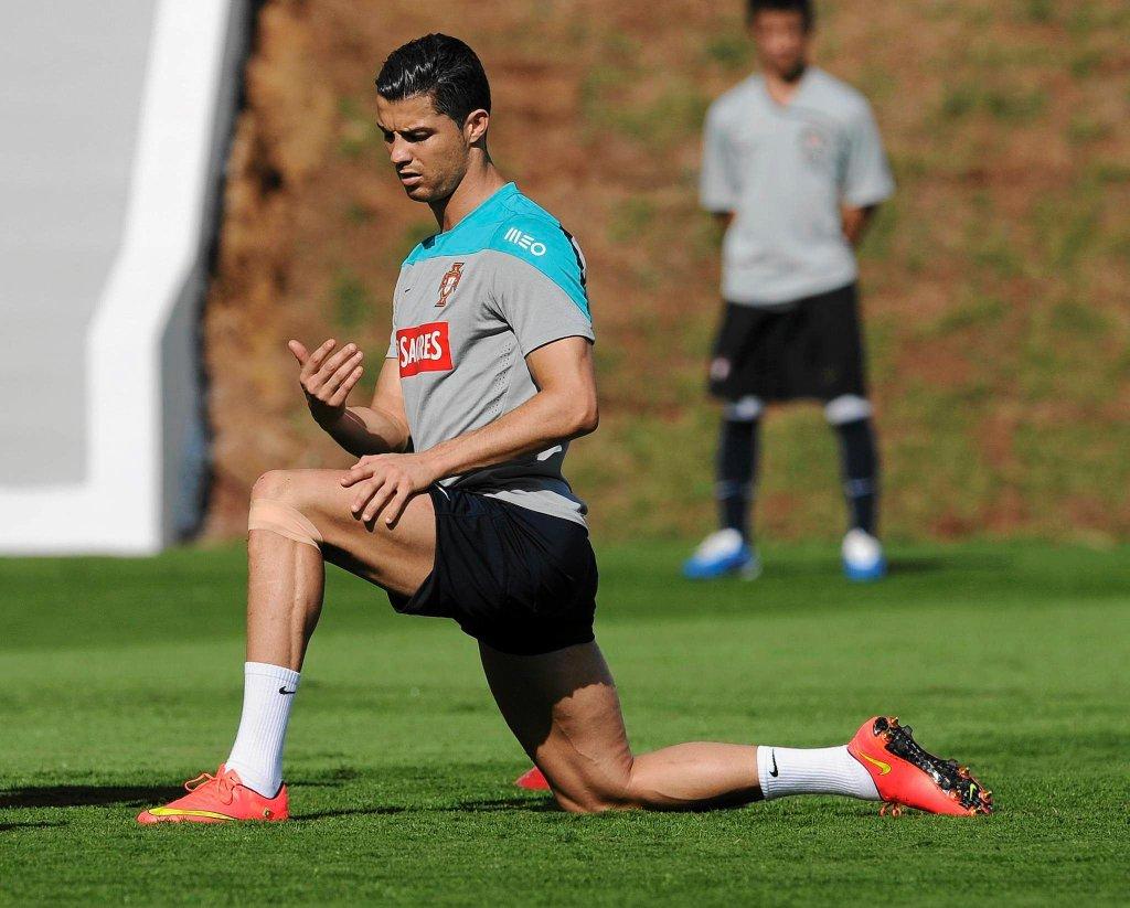 Cristiano Ronaldo podczas sobotniego treningu