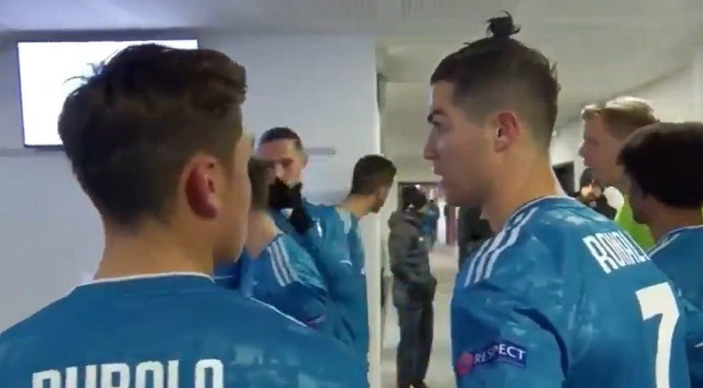 Ronaldo i Dybala nagrani w przerwie meczu. Myśleli, że nikt nie słucha... [WIDEO]