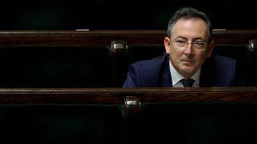 9 lipca 2014 r. Bartłomiej Sienkiewicz w Sejmie przed debatą nad wnioskiem o jego odwołanie z funkcji szefa MSW