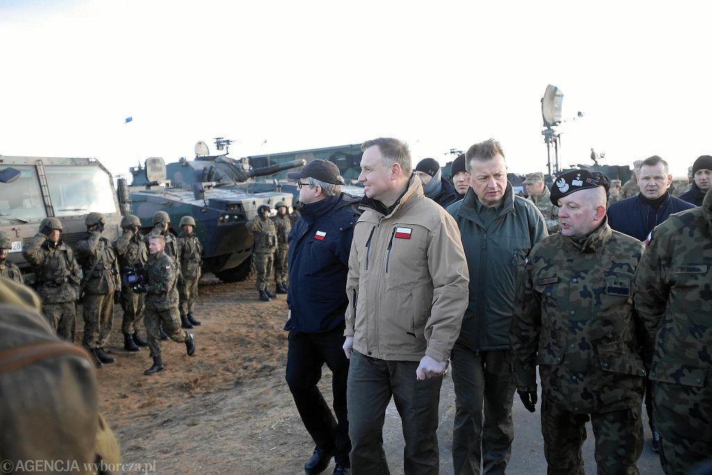 Wizyta prezydenta Andrzeja Dudy na poligonie w Drawsku Pomorskim w czasie amerykańskich ćwiczeń Defender-Europe 20