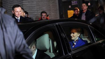Para prezydencka w limuzynie
