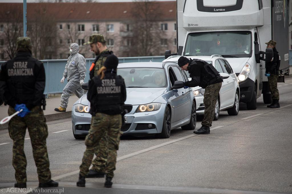 Kontrole graniczne na polsko-niemieckich przejściach.