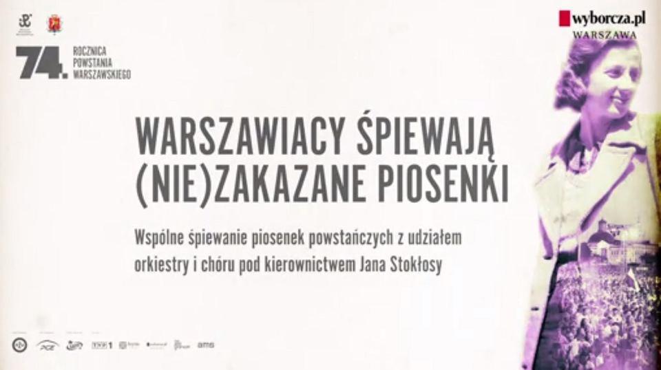 Zdjęcie numer 2 w galerii - 'Warszawskie dzieci' i 'Sanitariuszka Małgorzatka' - wspólne śpiewanie powstańczych piosenek. 74 lata później