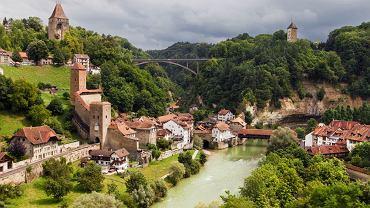 Fryburg - urokliwa stolica kantonu o tej samej nazwie, Szwajcaria