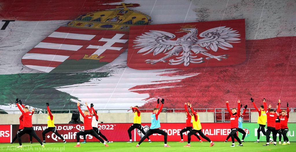 Budapeszt. Polska drużyna podczas treningu przed meczem eliminacji mistrzostw świata Węgry - Polska