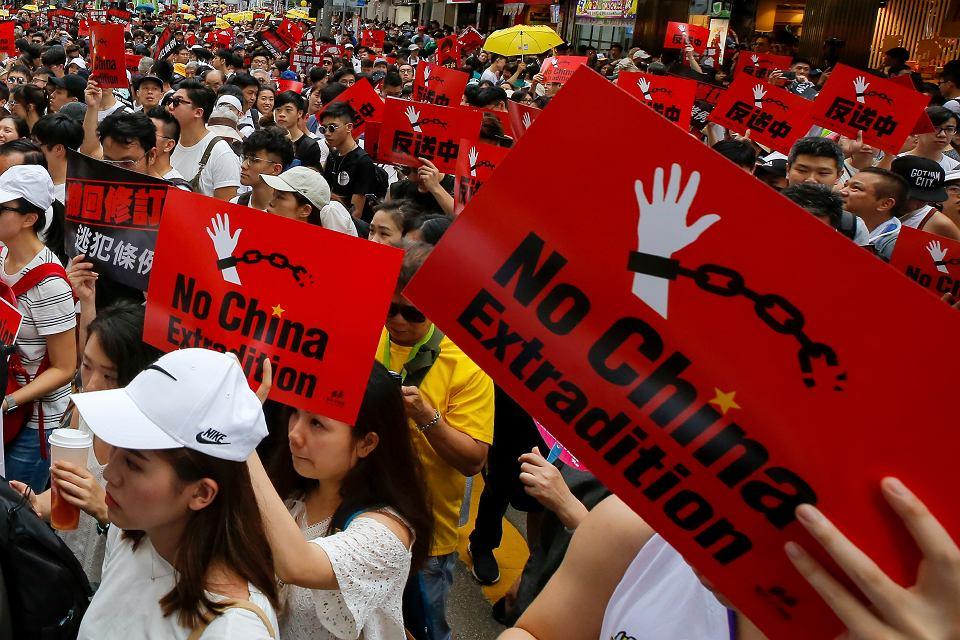Hongkong: protest przeciwko prawu ekstradycyjnemu