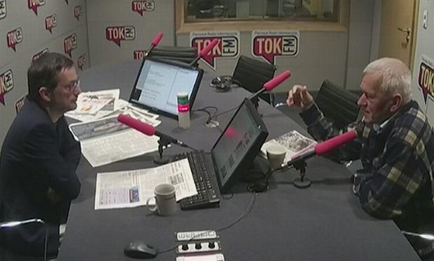 Jan Wróbel i Kornel Morawiecki w studiu radia TOK FM