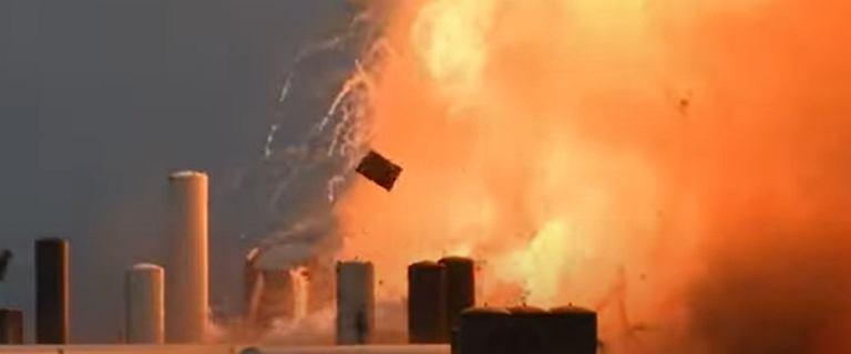 Prototyp nowej rakiety Starship firmy eksplodował podczas testów