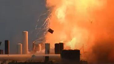 Wybuch prototypu rakiety Starship firmy SpaceX.