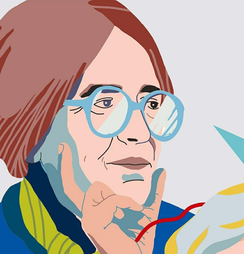 Krystyna Starczewska, fragment muralu 'Kobiety Wolności'