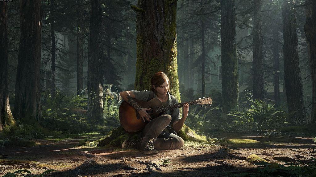 Ellie grająca na gitarze