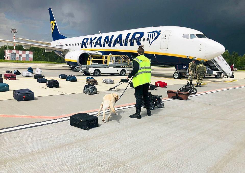 Samolot linii Ryanair zatrzymany w Mińsku