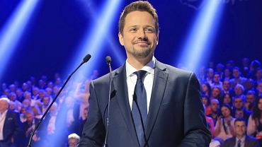Rafał Trzaskowski na konwencji PO