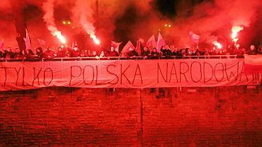 Nacjonalistyczne hasła na Marszu Niepodległości 2012 r.