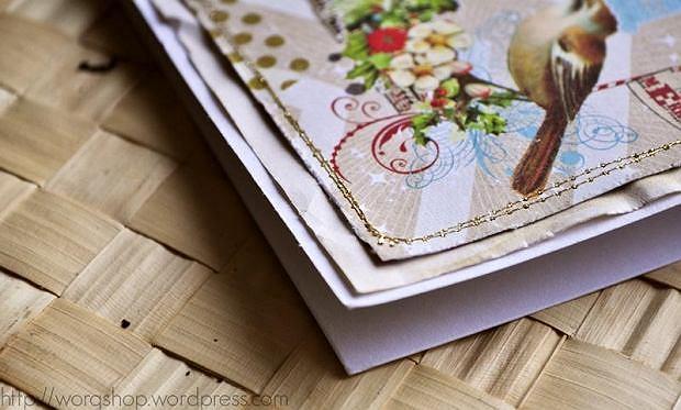 Świąteczna kartka z girlandą