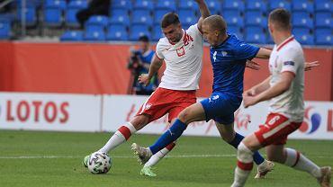 Jakub Świerczok w meczu Polska - Islandia przed Euro 2020