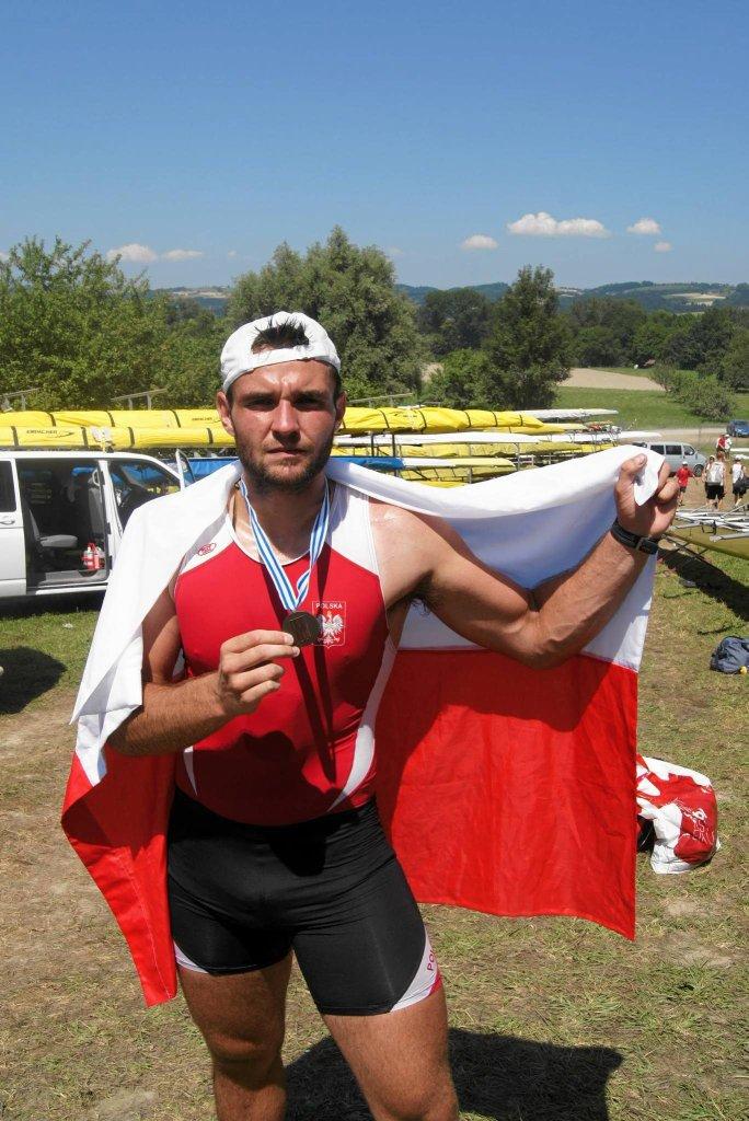 Damian Salak, w ubiegłym roku wywalczył brązowy medal młodzieżowych mistrzostw świata w ósemce wioślarskiej