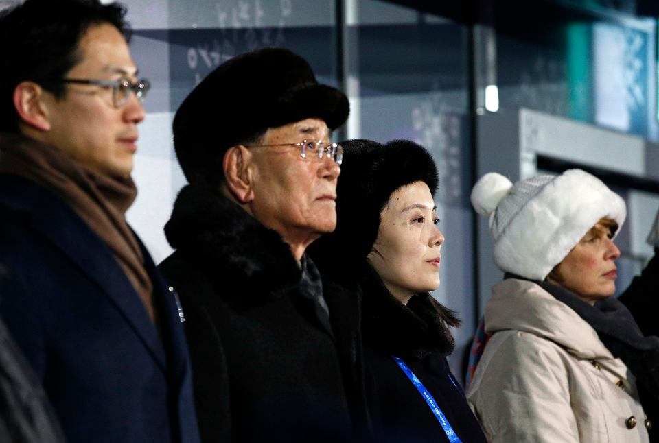 Kim Yon Jong (siostra Kim Dżong Una) na ceremonii otwarcia igrzysk w Pjongczangu