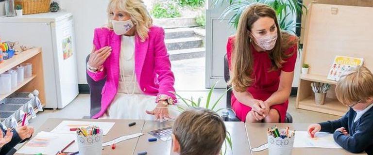 Ekspertka od etykiety surowo o Jill Biden podczas spotkania z księżną Kate. Złe buty to dopiero początek