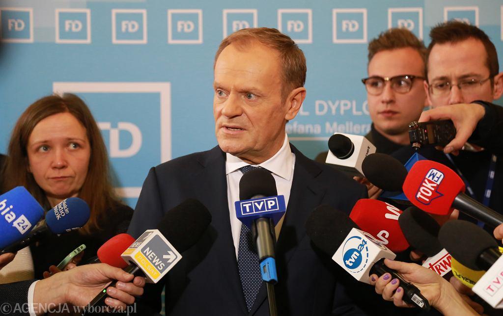 Donald Tusk na Festiwalu Dyplomatycznym w Białymstoku, 24.02.2020