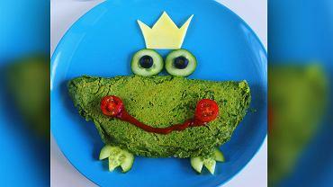 Zielony omlet ze szpinakiem, czyli żabi książę