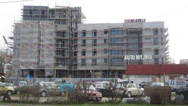 Budowa bloków mieszkalnych.