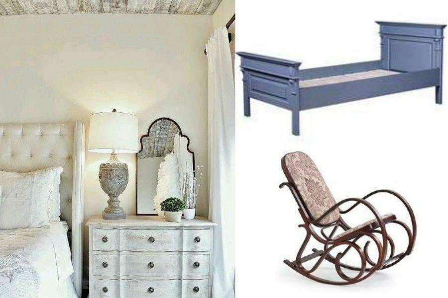 Sypialnia w stylu shabby chic jest niezwykle romantycznym wnętrzem