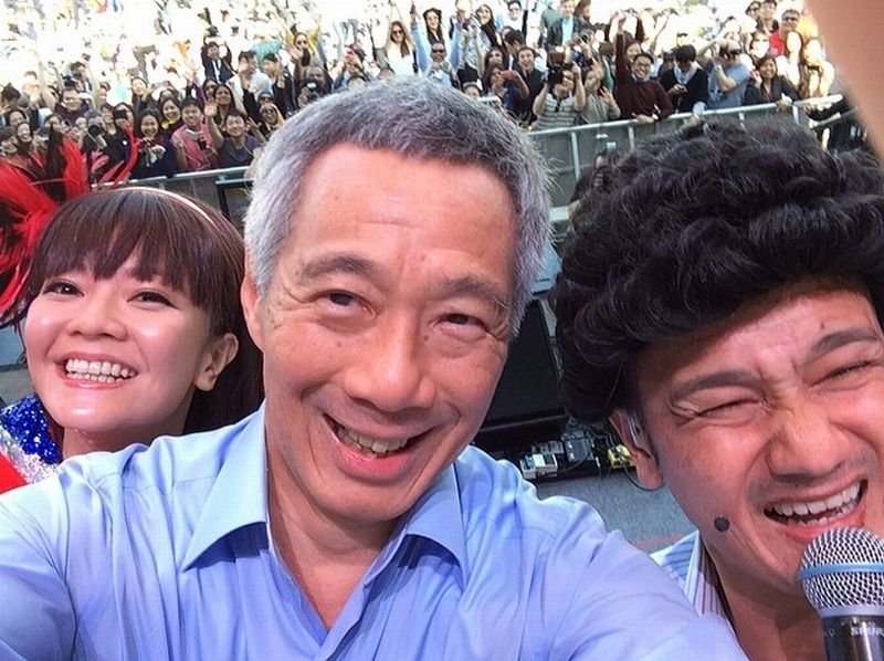 Premier Lee Hsien Loong podczas wizyty w Londynie