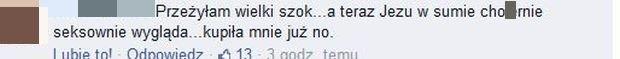 Komentarz na profilu TVN