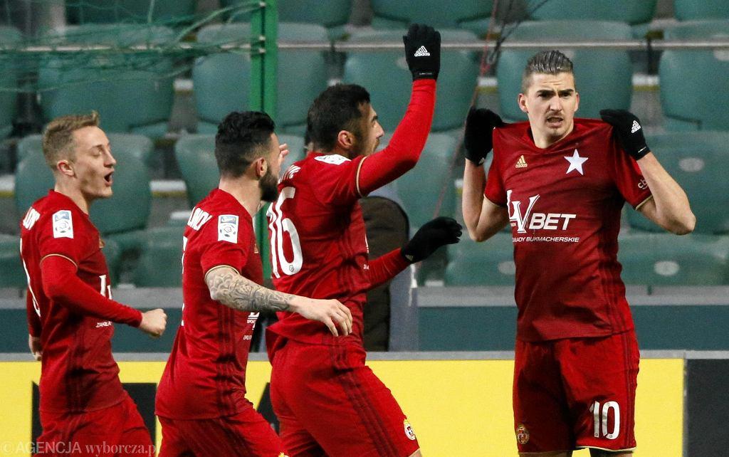 Carlitos podczas meczu o mistrzostwo Ekstraklasy Legia Warszawa - Wisła Kraków.