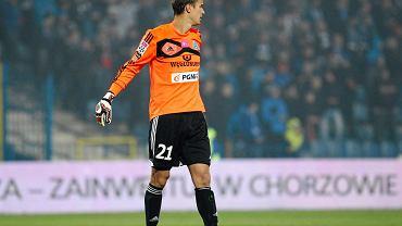 Krzysztof Kamiński w meczu Ruch - Korona Kielce 0:1