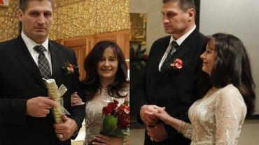 Andrzej Gołota z żoną