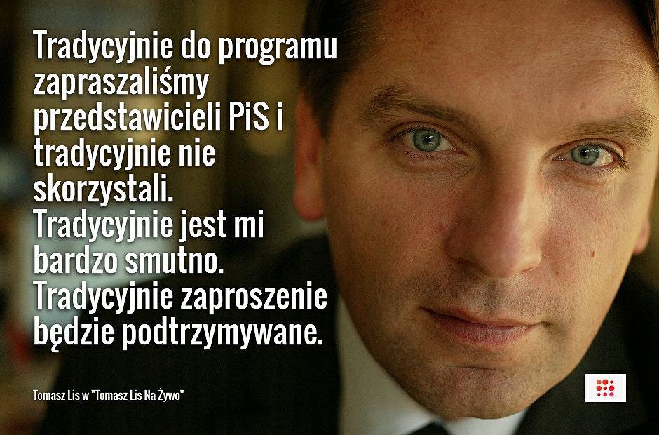 Tomasz Lis w programie 'Tomasz Lis Na Żywo'