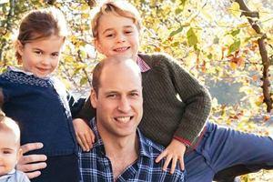 Świąteczna kartka rodziny królewskiej
