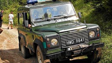 Samochód terenowy Straży Granicznej podczas akcji