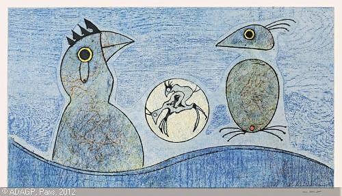 Max Ernst 'Les oiseaux'  1975 / Materiały prasowe