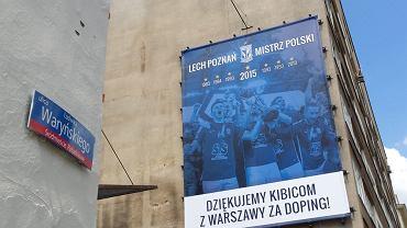 Billboard Lecha Poznań na stacji metro Politechnika w Warszawie